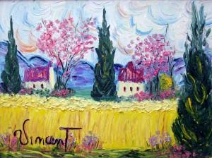 Pintura Mediúnica Finalizada de Vincent Van Gogh